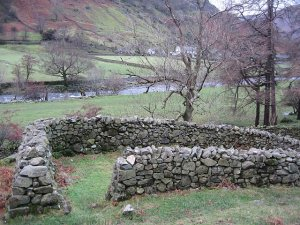 Sheepfold near Stonethwaite, by Ann Bowker