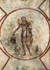 Fresco of the Good Shepherd in the Catacomb of Callixtus