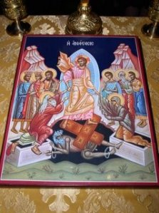 Jesus' Descent to the Dead (Icon from Great Byzantine Catholic Church, Irving, TX)